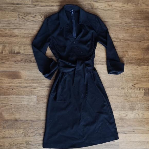 Le Chateau 3/4 Sleeve Little Black Dress Small